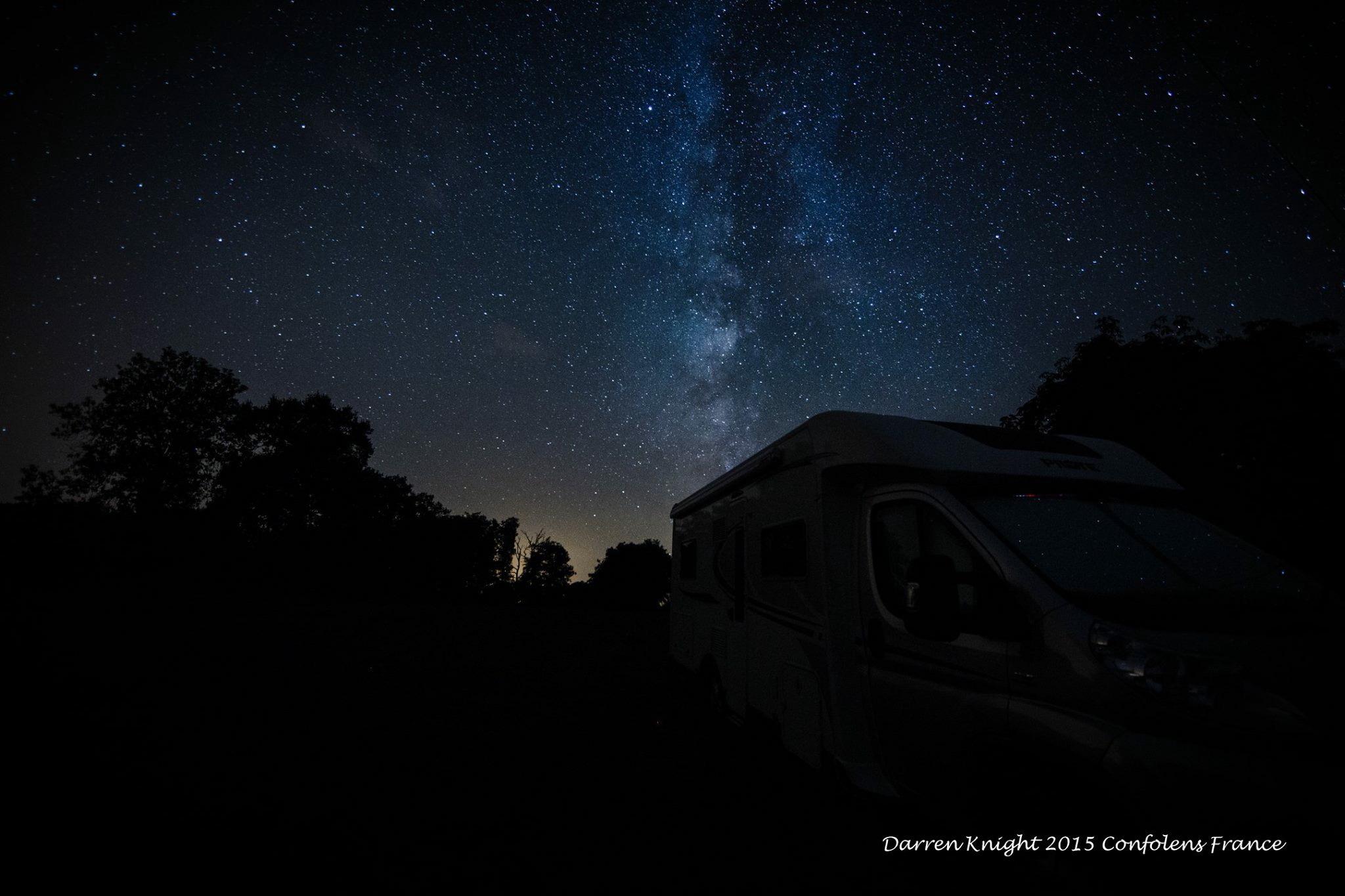 Milkyway directly over Astrofarm