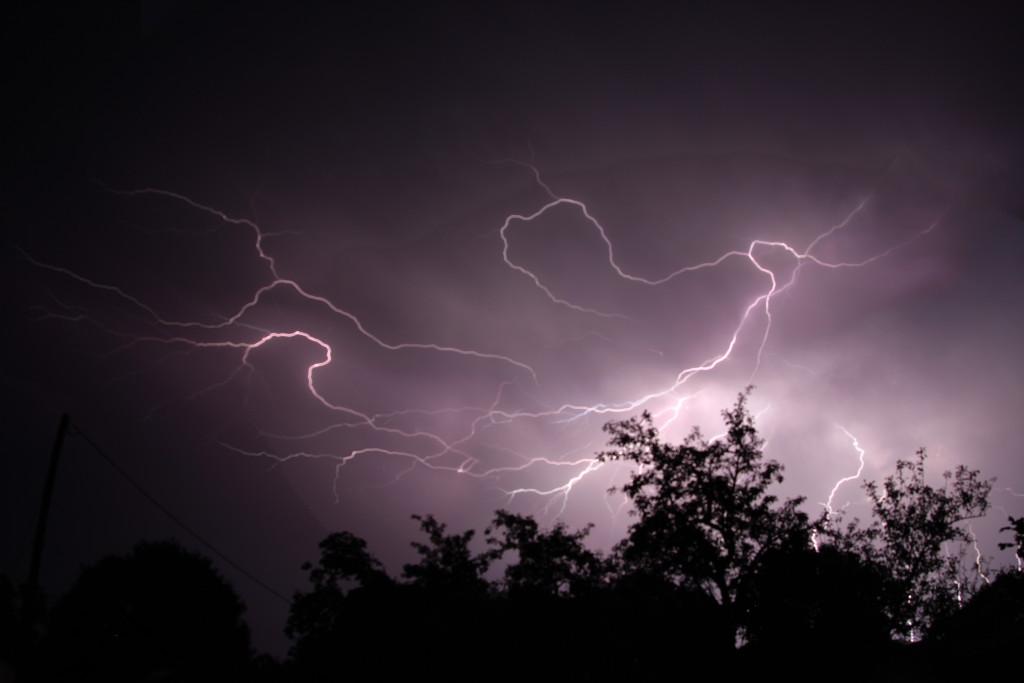 Lightening storm over Astrofarm